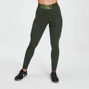 MP Women's Textured Leggings- Dark Green