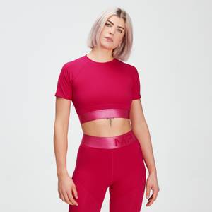 MP Women's Adapt Textured Crop Top- Virtual Pink