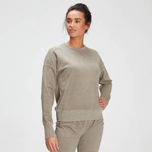 MP Women's Raw Training Washed Crew Sweat - Taupe