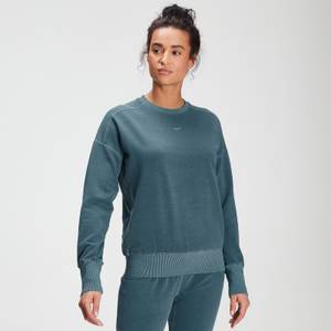 MP Women's Raw Training Washed Crew Sweat - Deep Sea Blue