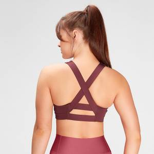 MP Women's Composure Repreve® Sports Bra - Washed Oxblood