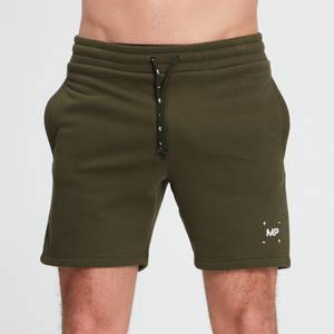 MP Men's Central Graphic Shorts - Dark Olive