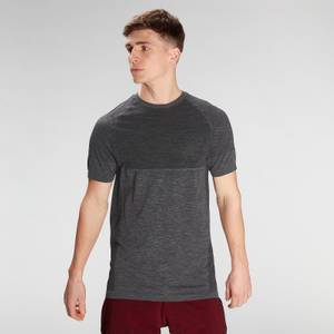 MP Men's Essential Seamless Short Sleeve T-Shirt- Storm Grey Marl