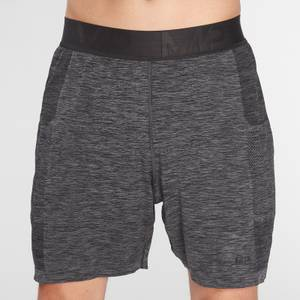 MP Men's Essential Seamless Shorts- Storm Grey Marl