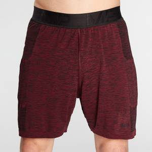 MP Men's Essential Seamless Shorts- Washed Oxblood Marl