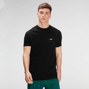 MP Men's Essential Seamless Graphic Short Sleeve T-Shirt- Black
