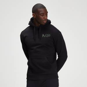 MP Men's Adapt Washed Black Camo Print Hoodie- Black