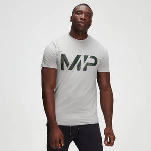 MP Men's Adapt drirelease® Camo Print T-shirt- Storm Grey Marl