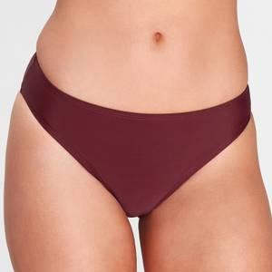 MP Women's Essentials Bikini Bottoms- Washed Oxblood