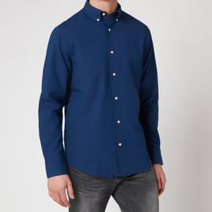 Gant Men's Solid Indigo Shirt - Dark Indigo