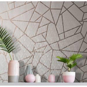 Sublime Pink Theia Metallic Geometric Wallpaper