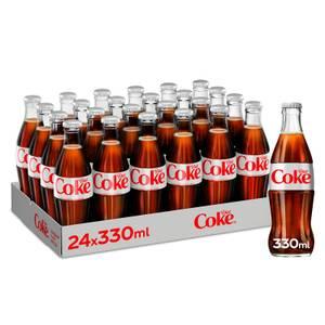 Diet Coke 24 x 330ml Glass Bottles