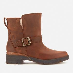 Timberland Women's Graceyn Waterproof Leather Biker Boots - Rust