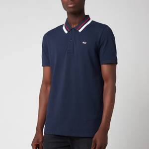 Tommy Jeans Men's Classic Tipped Stretch Polo Shirt - Twilight Navy