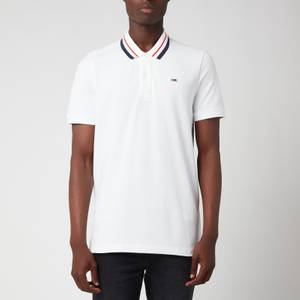 Tommy Jeans Men's Classics Tipped Stretch Polo Shirt - White