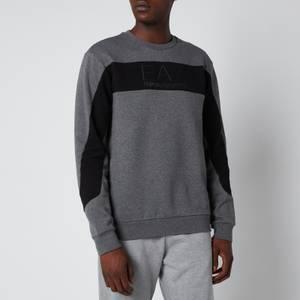 Emporio Armani EA7 Men's Centre Logo Sweatshirt - Black