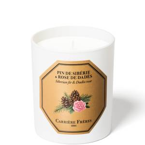 Carrière Frères Scented Candle Siberian fir & Dades Rose - 185 g