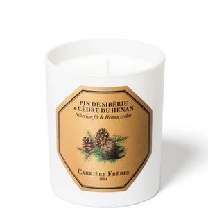 Carrière Frères Scented Candle Siberian fir & Henan Cedar - 185 g
