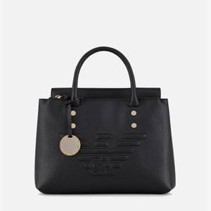 Emporio Armani Women's Eagle Logo Top Handle Bag - Black