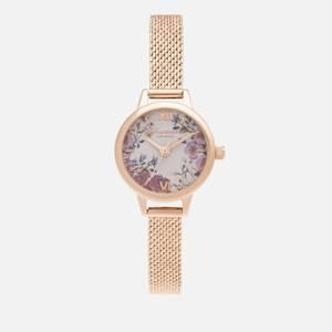 Olivia Burton Women's British Blooms Mini Dial Bracelet Watch - Rose Gold
