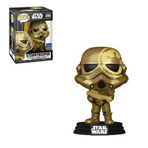 Figura Funko Pop! Exclusivo Wonder Con 21 - Stormtrooper Dorado Artist Series - Star Wars