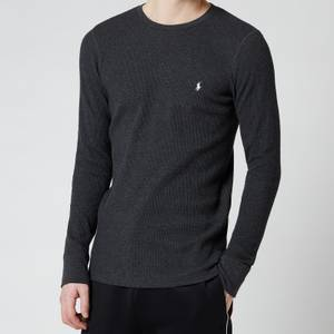 Polo Ralph Lauren Men's Waffle Knit Long Sleeve Sleep Top - Windsor Heather