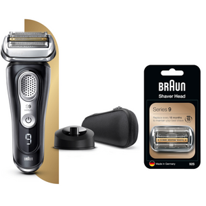 Series 9 Shaver Bundle with Charging Stand and Shaver Head Replacement
