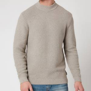 Ted Baker Men's Ovatake Textured Mockneck Jumper - Natural