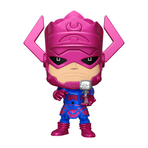 "PX Previews Marvel Galactus with Silver Surfer EXC 10"" Metallic Funko Pop! Vinyl"