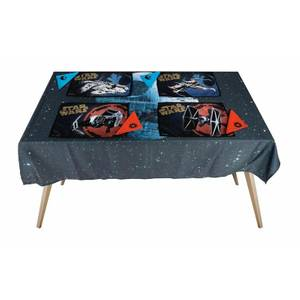 Death Star Star Wars Fabric Tablecloth Set (includes 4 Placemats and 4 Napkins)