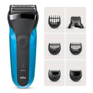 Braun Series 3 Shaver with Trimmer Head and 5 Combs, Wet & Dry