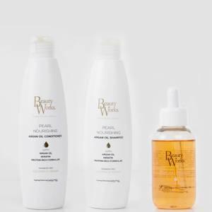 Beauty Works Pearl Nourishing Argan Oil Trio