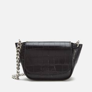 Simon Miller Women's Mini Bend Croco Bag - Black