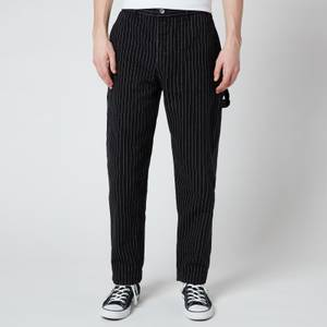 YMC Men's Garment Dye Pinstripe Twill Painter Man Pants - Black