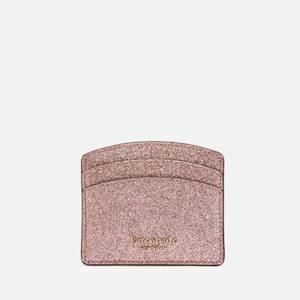 Kate Spade New York Women's Spencer Glitter Card Holder - Rose Gold