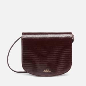 A.P.C. Women's Mini Dina Lizard Bag - Burgundy