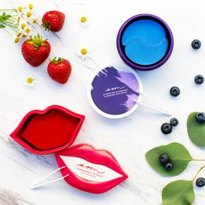 Soon Skincare Seoul Mates Duo – Strawberry Lip Jar and Blueberry Eye Jar (Worth $172.00)