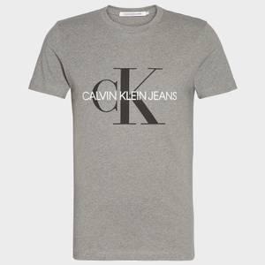 CK Jeans Men's Iconic Monogram T-Shirt - Mid Grey Heather