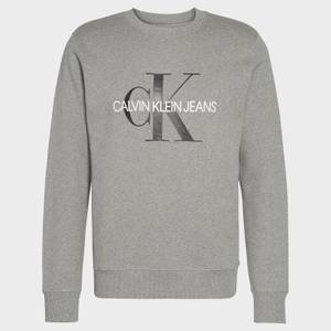 CK Jeans Men's Iconic Monogram Sweatshirt - Mid Grey Heather