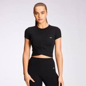 MP Power rövid ujjú női Crop trikó - Fekete