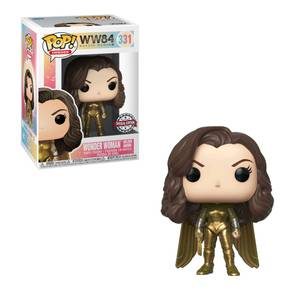 DC Comics Wonder Woman 1984 Golden Armour Unhelmeted EXC Funko Pop! Vinyl