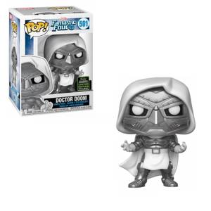 Marvel Series: Marvel Comics - Fantastic Four: Doctor Doom (Black & White Version) EXC Figura Funko Pop! Vinyl