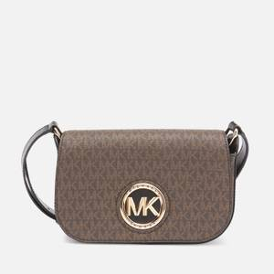 MICHAEL Michael Kors Women's Samira Small Flap Messenger Bag - Brown/Black