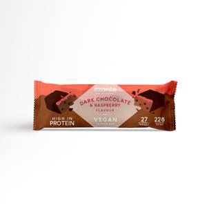 Veganer Zartbitterschokolade- und Himbeer Riegel