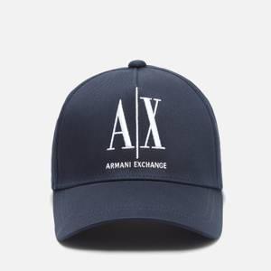 Armani Exchange Men's Big Logo Baseball Hat - Dark Teal/Navy