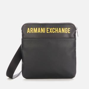 Armani Exchange Men's Logo Flat Messenger Bag - Black