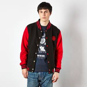 Veste Teddy Doctor Who Gallifreyan - Noir/Rouge