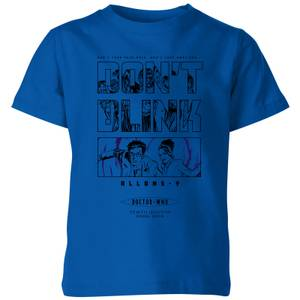 Doctor Who 10th Doctor Kinder T-Shirt - Royales Blau