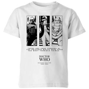 Doctor Who 2nd Doctor Kinder T-Shirt - Weiß
