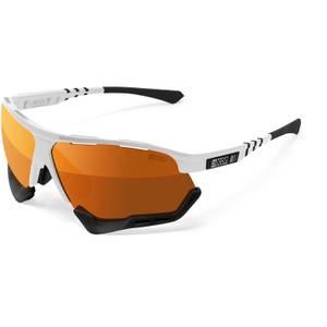 Scicon Aerocomfort XL Road Sunglasses - White Gloss/SCNPP Multimirror Bronze